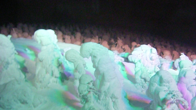 樹氷ライトアップ画像