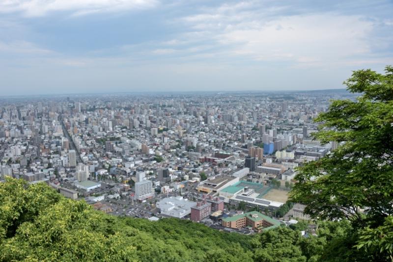 円山からの市街の画像