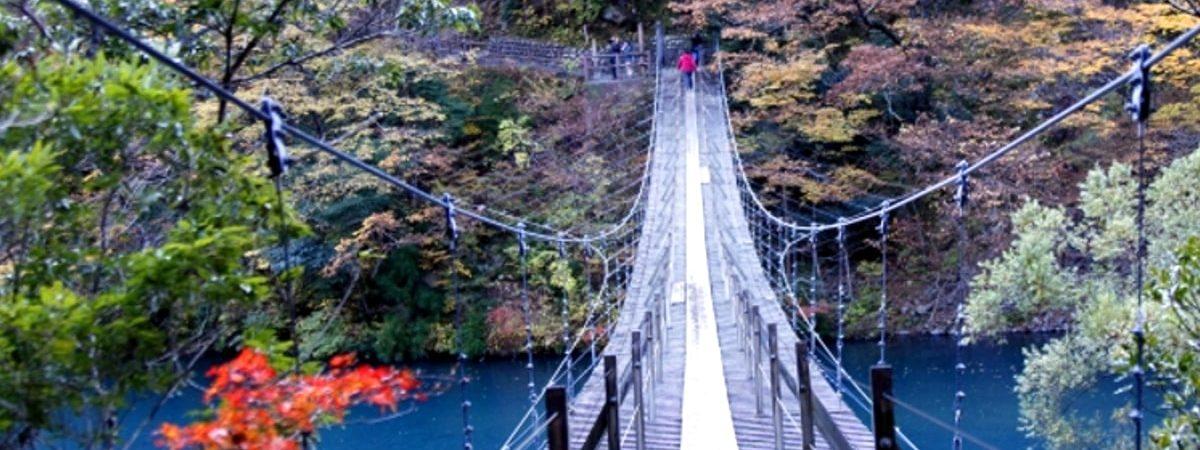 寸又峡夢の吊り橋画像
