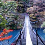 寸又峡の夢の吊りは想像を超えてきた!なかなかのスリルを静岡で体験!