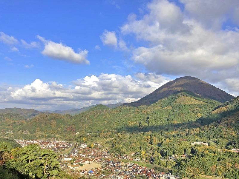 津和野城跡から津和野市街を見下ろせます
