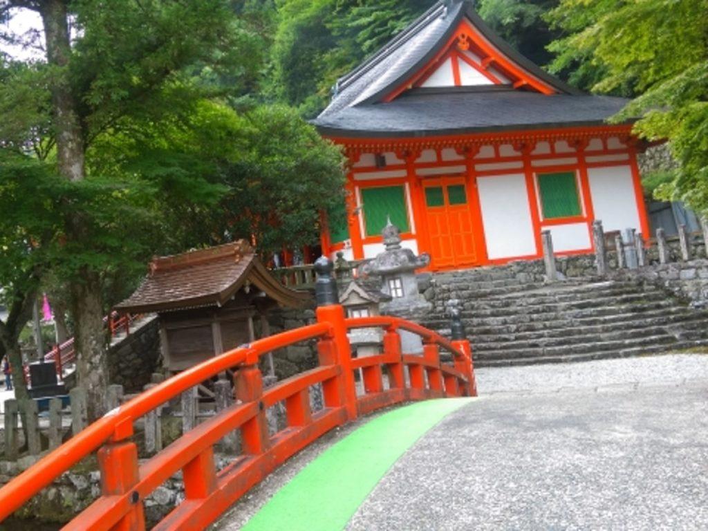 龍泉寺と赤橋画像