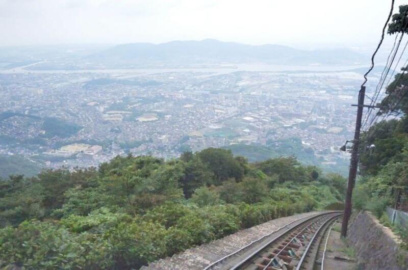 皿倉山_ケーブルカーからの景色