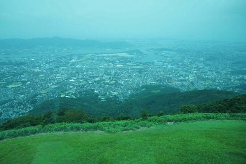 皿倉山_スロープカーからの景色