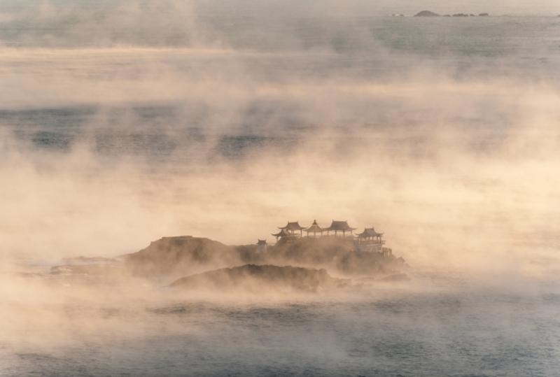 日和山海岸海霧画像