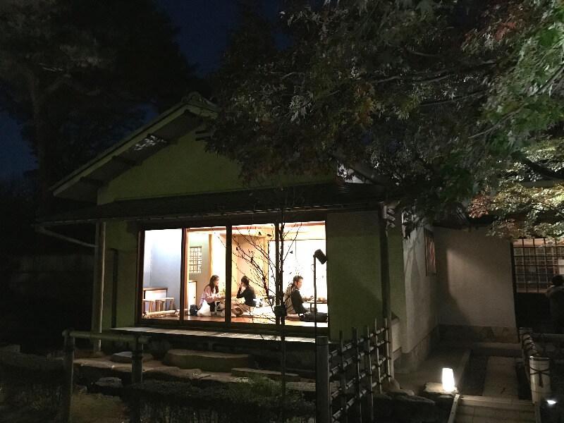 大田黒公園_紅葉ライトアップ_茶室