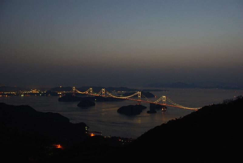 亀老山展望公園_ライトアップ夜景