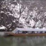 猊鼻渓の冬景色「こたつ舟」で川下り!水墨画の世界を体験する!