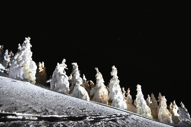 森吉山_夜の樹氷鑑賞ツアー
