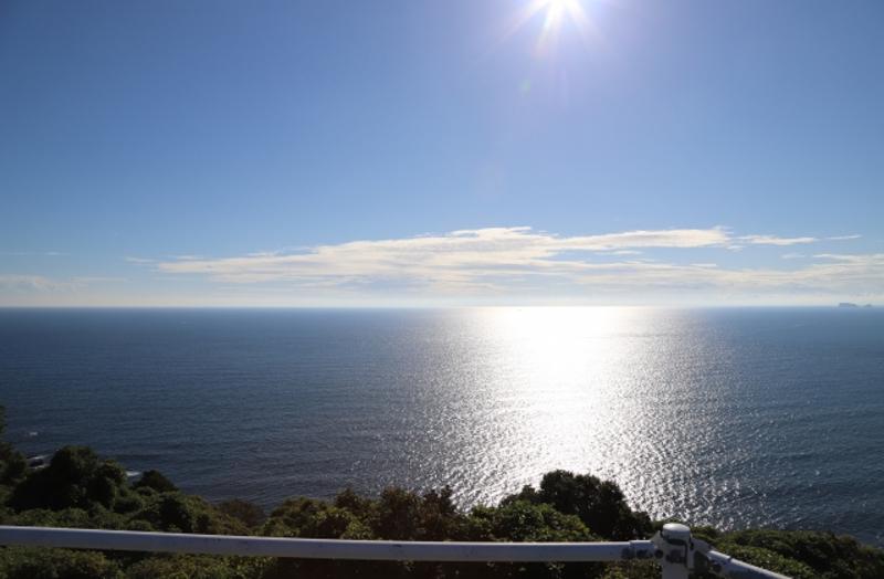 五島海と太陽画像