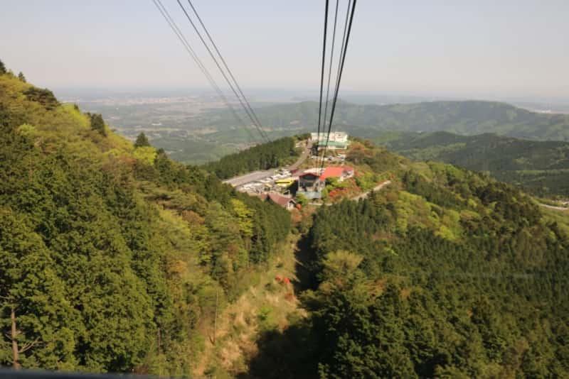 筑波山 ロープウェイからの眺め