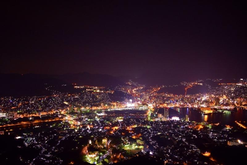 稲佐山からの夜景画像