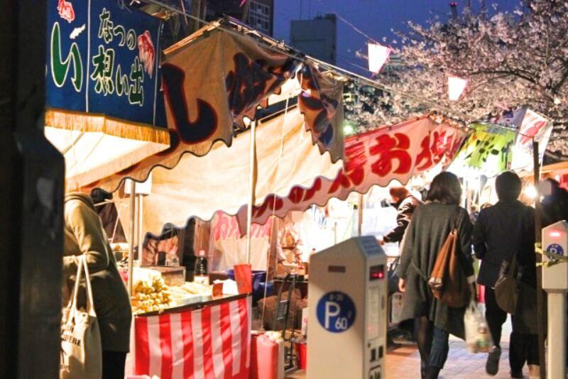 大岡川_夜桜ライトアップ