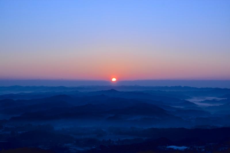 九十九谷展望公園からの日の出