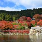 勝運・ダルマ・桜・紅葉の「勝尾寺」と宝くじ・日本最古の弁財天の「瀧安寺」
