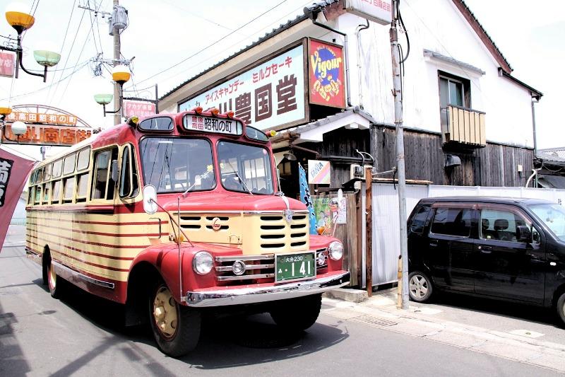 昭和の町_ボンネットバス_001
