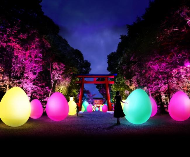 下鴨神社_糺の森の光の祭_Art by teamLab