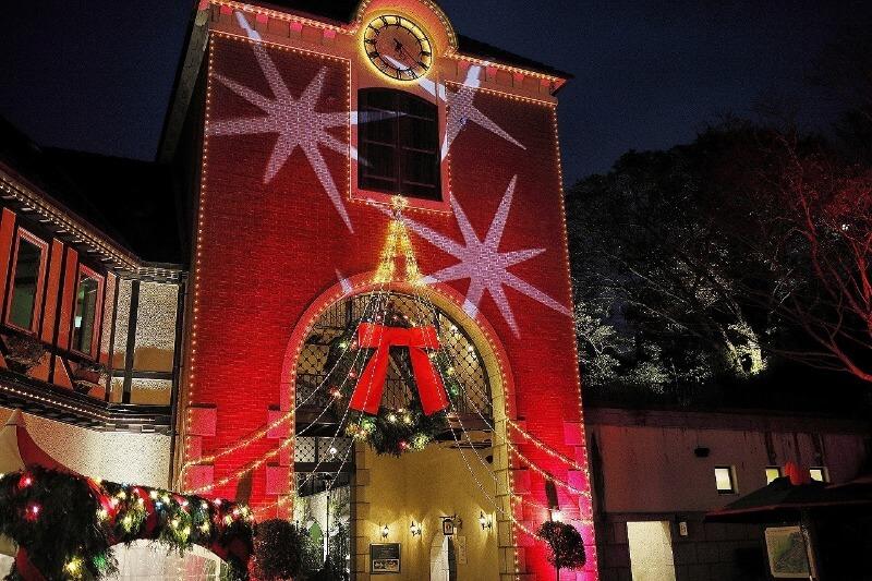 神戸布引ハーブ園クリスマスマーケット_ウェルカムリース