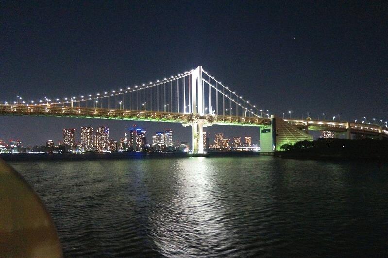 東京湾夜景_レインボーブリッジ
