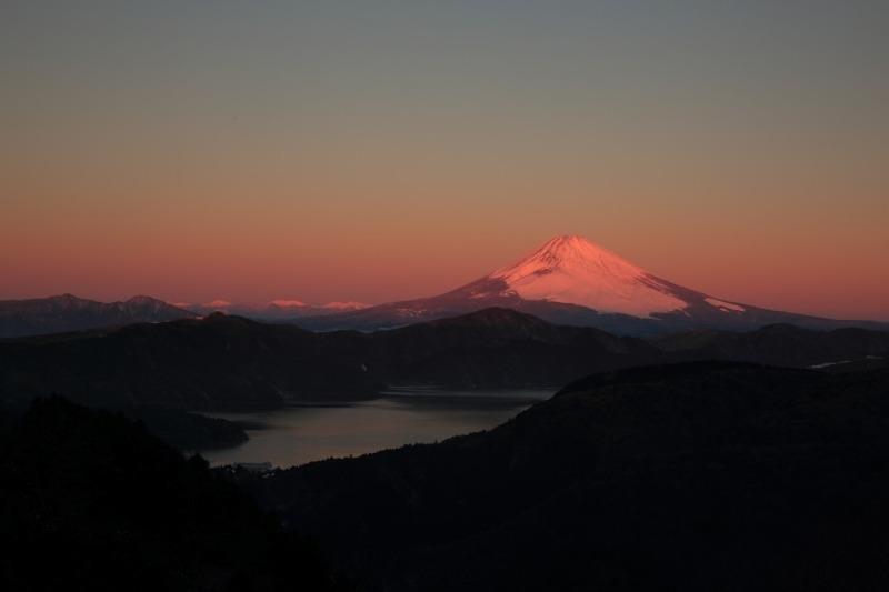 大観山_紅富士