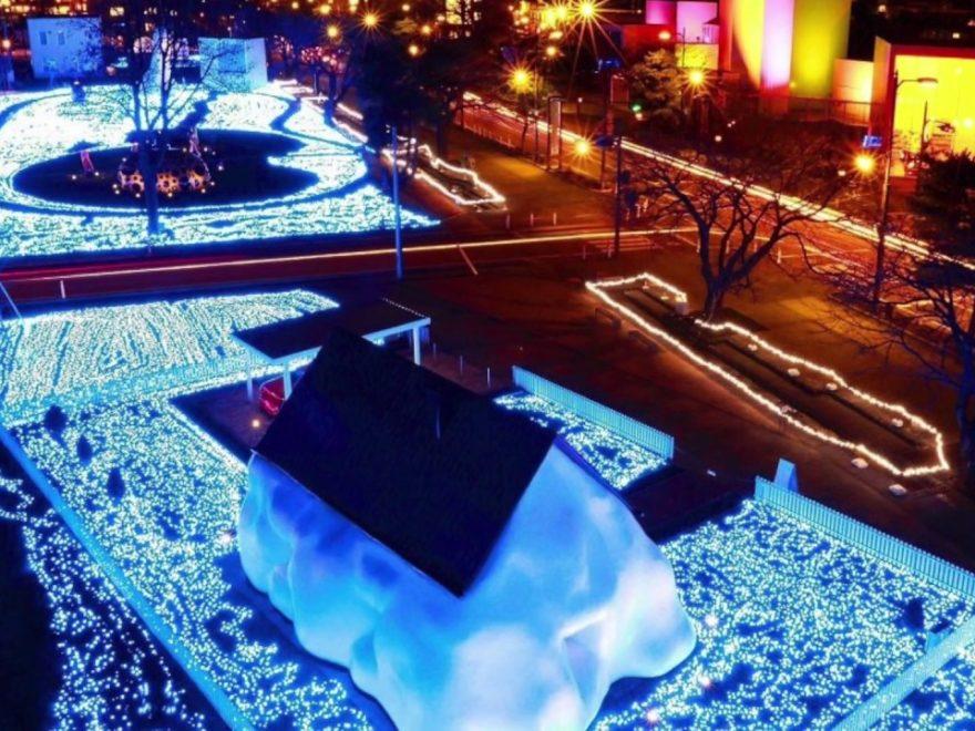 十和田現代美術館前 アート広場(青森) | 2018年イルミネーション情報