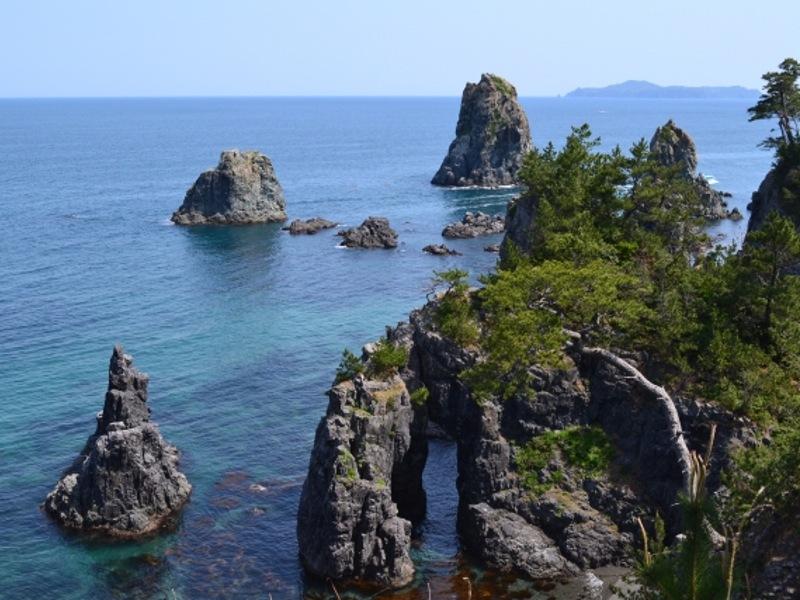 青海島奇岩画像