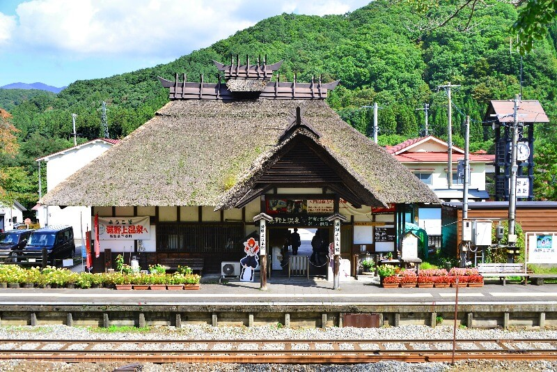 湯野上温泉駅舎