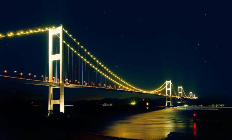 来島海峡大橋_ライトアップ