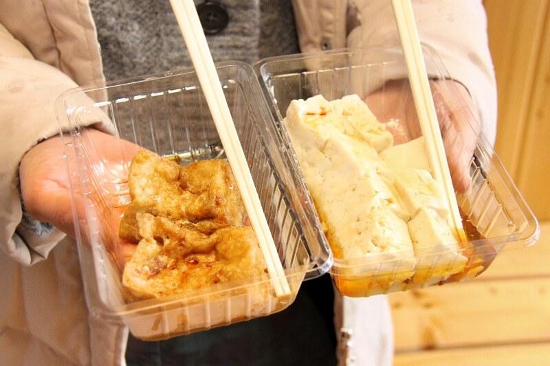 食べ歩き豆腐