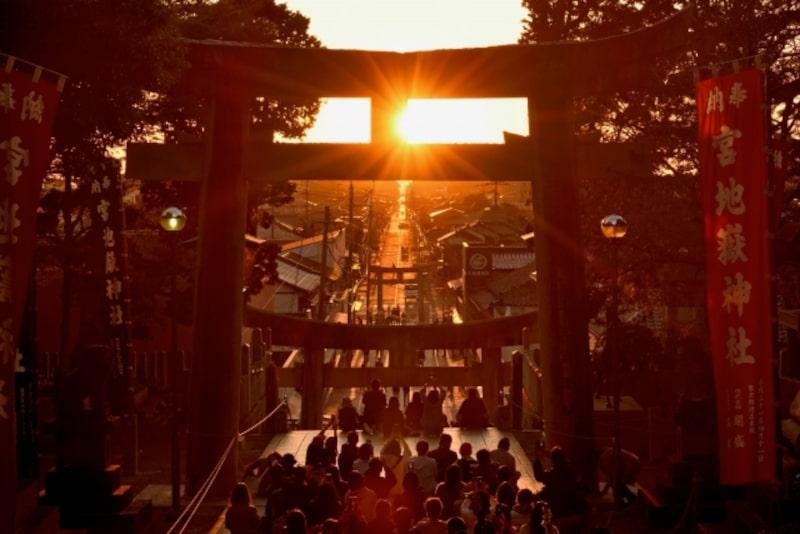 光の道-宮地嶽神社